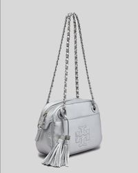 Tory Burch Metallic Thea Chain-Strap Crossbody Bag
