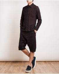 By Walid - Brown Vintage Cotton and Lace Shirt for Men - Lyst