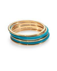 Michael Kors - Metallic Twotone Bangle Bracelet Set - Lyst