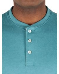 Racing Green | Green Pool Henley Top for Men | Lyst