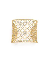 Alexis Bittar Metallic Crystal Cuff Bracelet