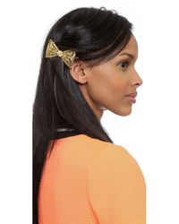 Dauphines of New York - Metallic Pretty Girl Barette - Gold - Lyst