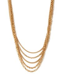 Forever 21   Metallic Layered Chain Necklace   Lyst