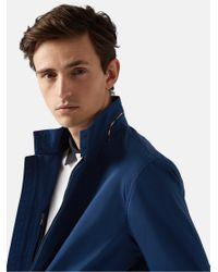 Aquascutum Blue Argill Harrington Jacket for men