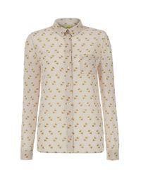 Hobbs White Nw3 Chaffinch Shirt