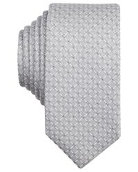 Original Penguin | Gray Kearny Grid Skinny Tie for Men | Lyst