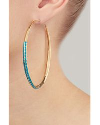 Aurelie Bidermann - Metallic Aurélie Bidermann Apache Gold-plated Hoop Earrings - Lyst