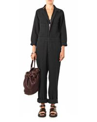 Aries - Black Cipputi Denim Boiler Suit - Lyst