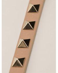 Valentino   Brown Rockstud Bracelet   Lyst