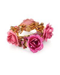 Erickson Beamon - Pink Enamel Swarovski Crystal Urban Jungle Bracelet - Lyst