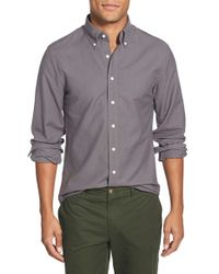 GANT | Gray 'the Perfect Oxford' Trim Fit Long Sleeve Sport Shirt for Men | Lyst