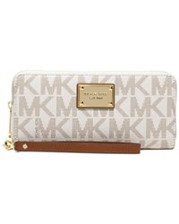 Michael Kors | White Michael Jet Set Item Travel Continental Wallet | Lyst