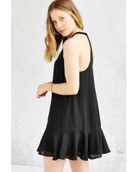 Lucca Couture Black Drop-waist Shift Dress