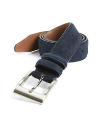 Allen Edmonds | Blue Suede Belt for Men | Lyst