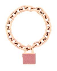 Henri Bendel | Pink Jetsetter Padlock Bracelet | Lyst