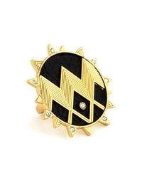 House of Harlow 1960   Metallic Zig Zag Starburst Ring   Lyst