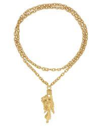 Valentino | Metallic Virgo Gold Tone Zodiac Necklace | Lyst