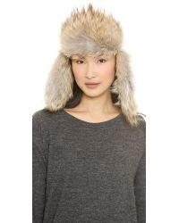 Canada Goose Black Fur-Lined Aviator Hat