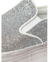 Jeffrey Campbell - Metallic 50mm Glittered Platform Sneakers - Lyst