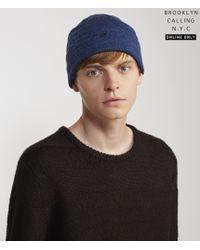 Brooklyn Calling | Blue Cuffed Knit Beanie | Lyst