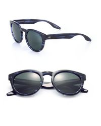 Barton Perreira - Blue Reece 52mm Round Sunglasses for Men - Lyst
