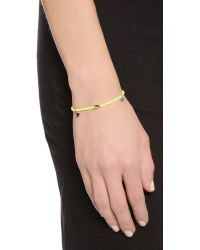 Shashi | Yellow Neon Lilu Bracelet - Orange | Lyst