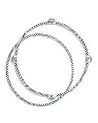 David Yurman Metallic Color Classics Bangles With Turquoise