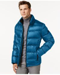 Calvin Klein | Blue Puffer Jacket for Men | Lyst
