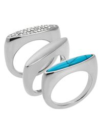 Michael Kors | Blue Rings, Set Of 3 | Lyst