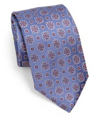 Armani | Blue Medallion Silk Tie for Men | Lyst