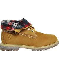 Timberland - Natural Authentics Leather Nubuck Roll Top Boots - Lyst