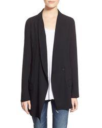 Leith Black Long Tuxedo Blazer