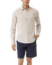 Hartford Natural Slim Fit Cotton Voile Shirt for men