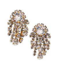 Erickson Beamon | Metallic I Do Crystal Fringe Button Earrings | Lyst