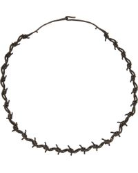Lynn Ban | Black Diamond Black Rhodiumplated Sterling Silver Barbed Wire Choker | Lyst