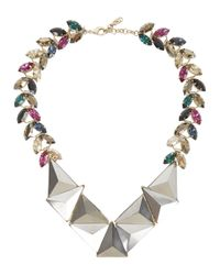 Iosselliani | Metallic Swarovski Crystal Embellished Necklace | Lyst