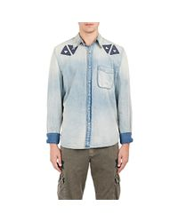 Bliss and Mischief Blue crave The West Axel Shirt for men