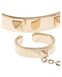 Valentino - Metallic Rockstud Ring And Bracelet - Lyst