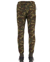 Nike Green Camo Printed Cotton Blend Jogging Pants for men