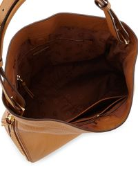 Tory Burch - Brown Robinson Pebbled Hobo Bag - Lyst