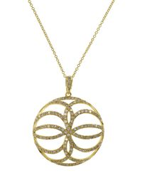Effy | Metallic Doro 14k Yellow Gold Diamond Pendant Necklace | Lyst