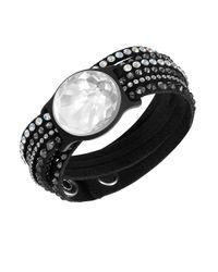 Swarovski | Black Shine Slake Tracker Wrap Bracelet | Lyst