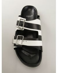 Givenchy Black Flat Buckle-Detail Sandals