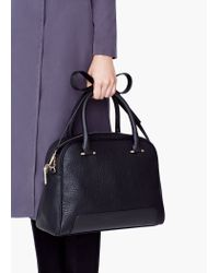Mango | Black Pebbled Tote Bag | Lyst