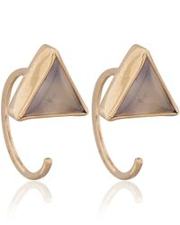 Melissa Joy Manning | Metallic Gold Chalcedony Triangle Hug Earrings | Lyst
