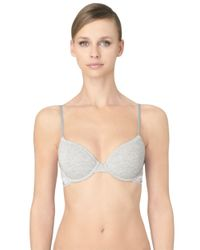 Calvin Klein | Gray Modern Cotton T Shirt Bra | Lyst