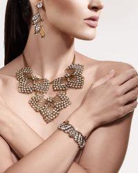Lulu Frost | Metallic Thicket Crystal Cuff Bracelet | Lyst