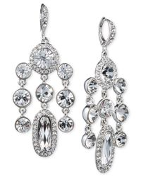 Givenchy - Metallic Crystal Cluster Chandelier Earrings - Lyst