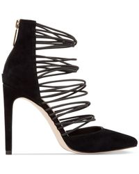 BCBGeneration Black Caliko Suede Strappy Pumps