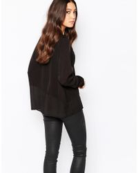 Y.A.S | Black Indy Sheer Top | Lyst